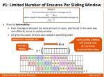 1 limited number of erasures per sliding window2