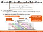 1 limited number of erasures per sliding window3
