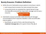 bursty erasures problem definition