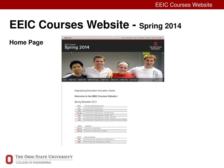eeic courses website spring 2014 home page n.