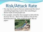 risk attack rate