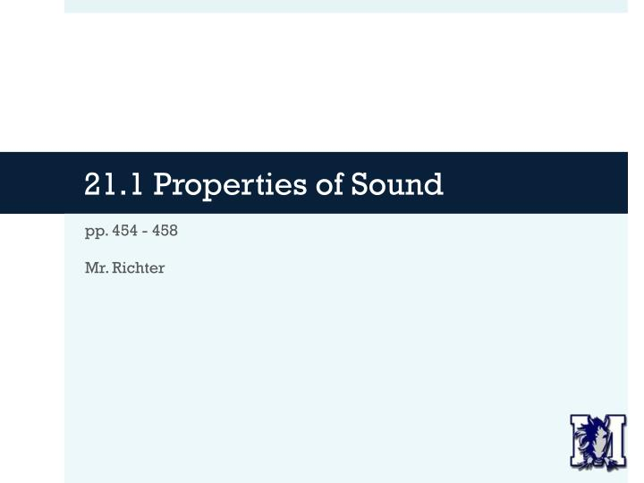 21 1 properties of sound n.