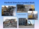 hanford stimulus funded work