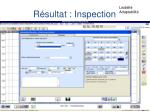 r sultat inspection
