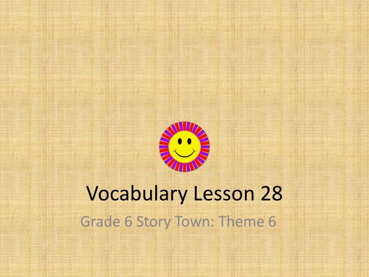 vocabulary lesson 28 n.