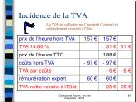 incidence de la tva