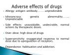 adverse effects of drugs