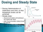 dosing and steady state