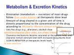 metabolism excretion kinetics