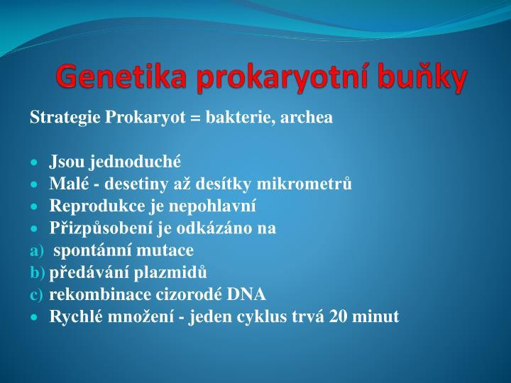 Genetika prokaryotn bu ky