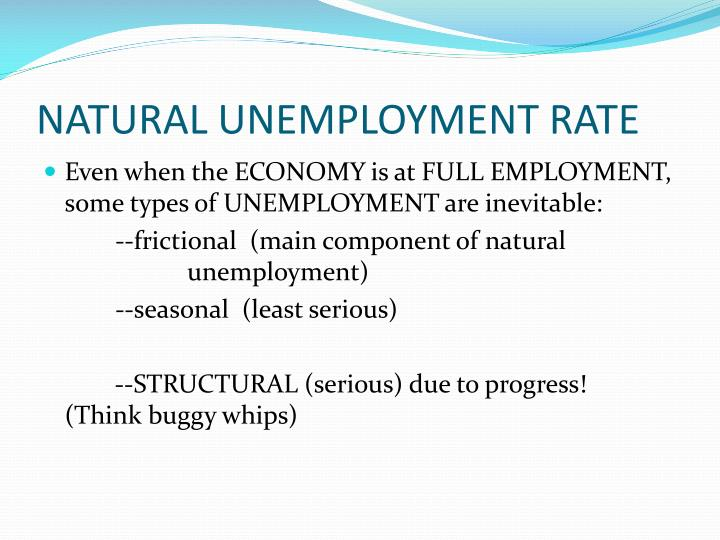 NATURAL UNEMPLOYMENT RATE