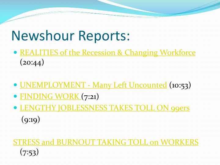 Newshour Reports: