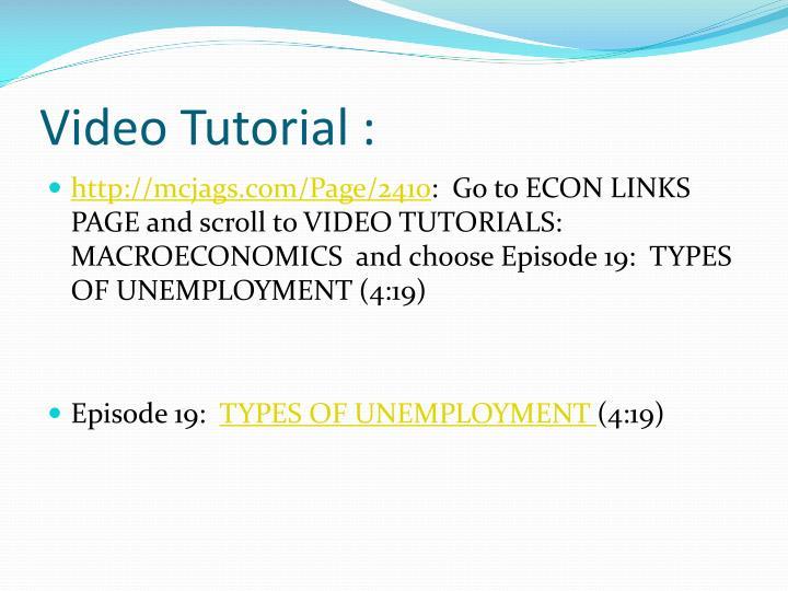 Video Tutorial :