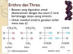erithro dan threo