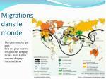 migrations dans le monde