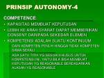 prinsip autonomy 4