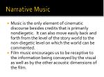 narrative music