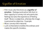 signifier of emotion