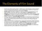 the elements of film sound