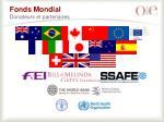 fonds mondial donateurs et partenaires