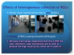effects of heterogeneous collection of rgcs