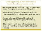 guiding principles for curriculum instruction improvement cont
