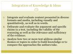 integration of knowledge ideas1