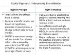 equity approach interpreting the evidence