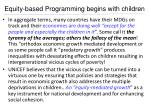 equity based programming begins with children