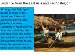 evidence from the east asia and pacific region