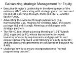 galvanizing strategic management for equity