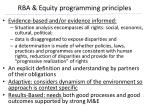 rba equity programming principles