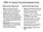 rba vs equity focused programming