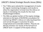 unicef s global strategic results areas sras1