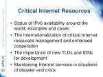 critical internet resources