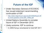 future of the igf