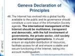 geneva declaration of principles