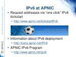 ipv6 at apnic