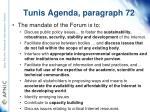 tunis agenda paragraph 72