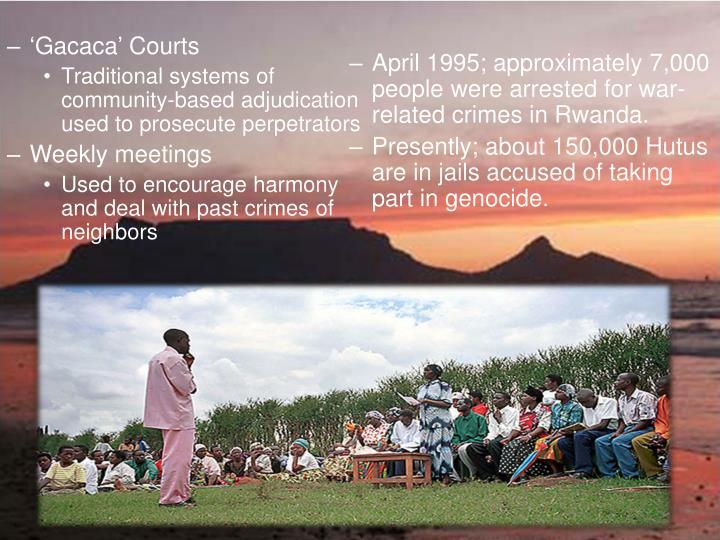 'Gacaca' Courts