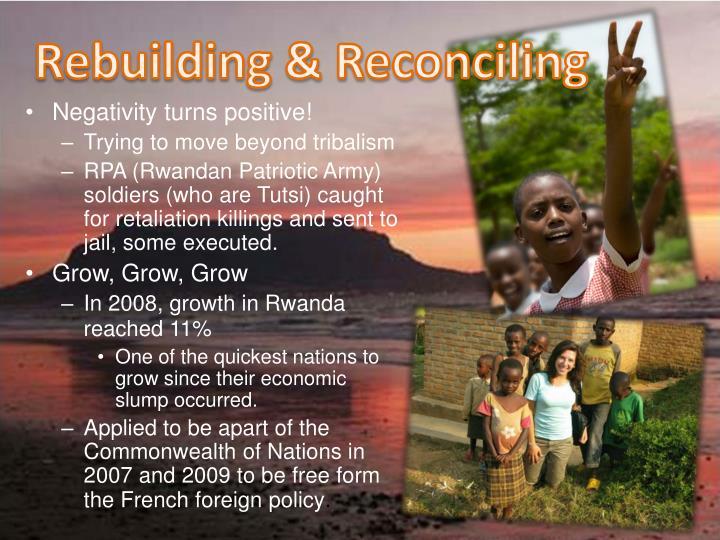 Rebuilding & Reconciling