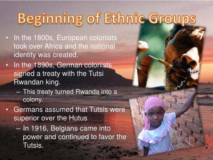 Beginning of Ethnic Groups