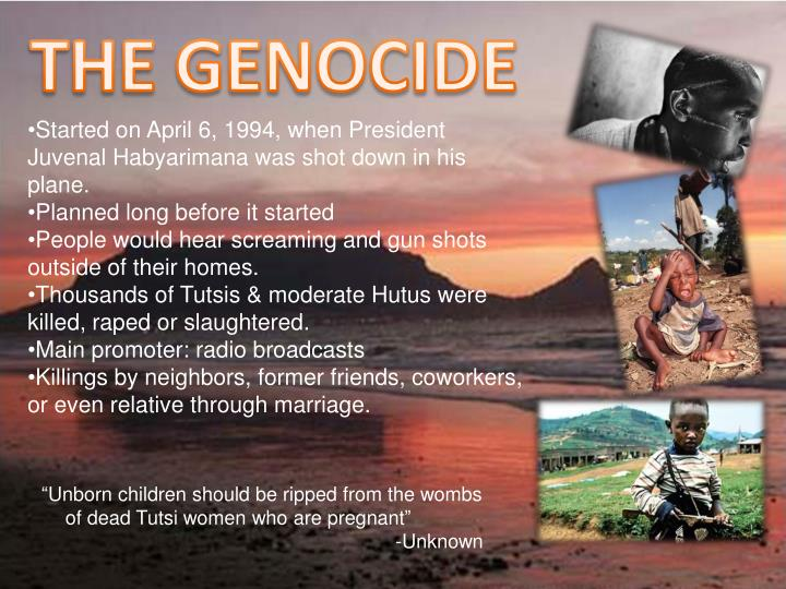 THE GENOCIDE