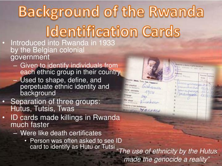 Background of the Rwanda
