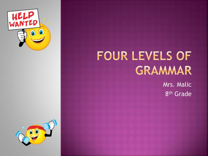 four levels of grammar n.
