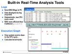 built in real time analysis tools1