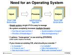 need for an operating system