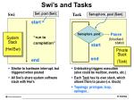 swi s and tasks