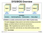 sys bios overview