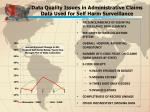 data quality issues in administrative claims data used for self harm surveillance1